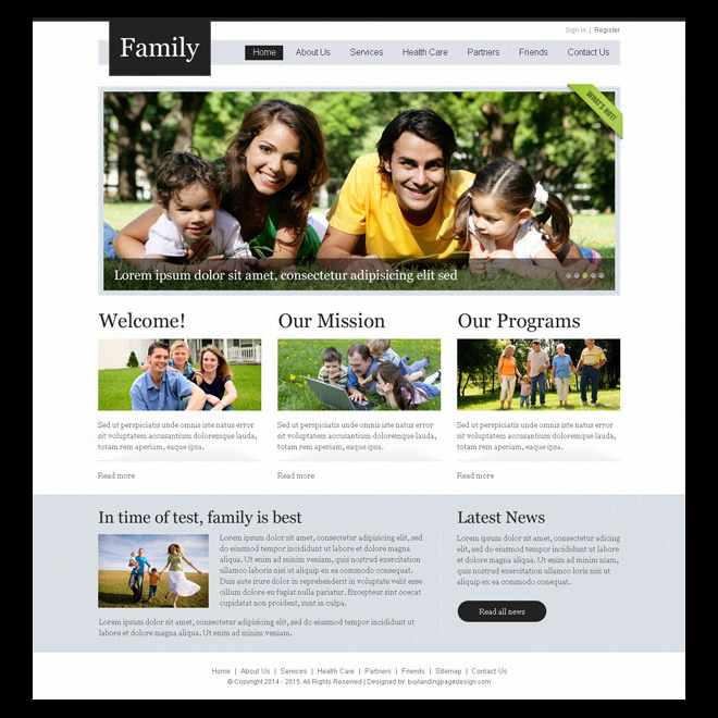 clean and professional website template design psd for creating your beautiful website Website Template PSD example