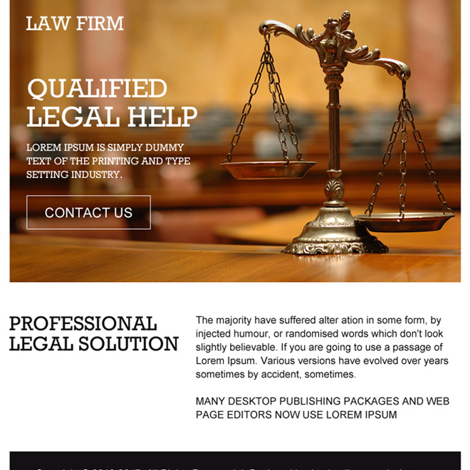 professional legal solutions ppv landing page design Attorney and Law example