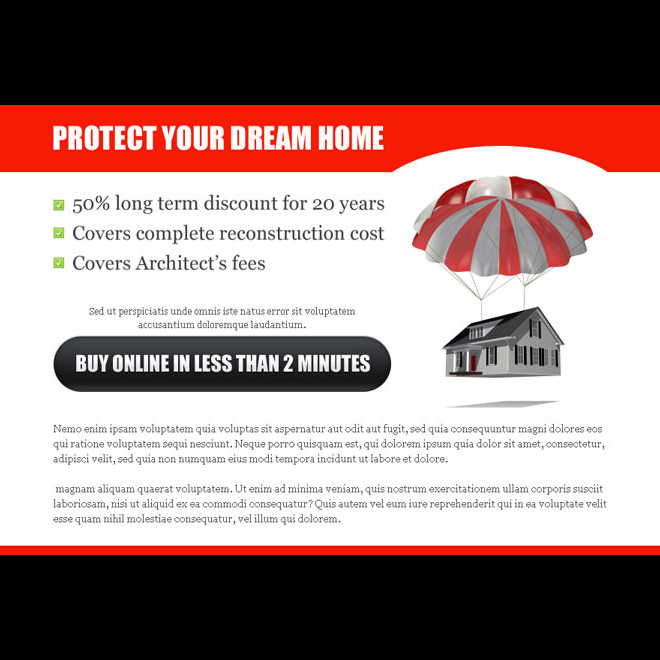 protect your dream home highly optimized home insurance ppv landing page design Home Insurance example