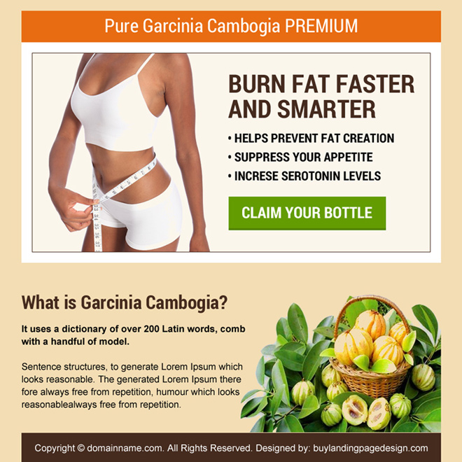 pure garcinia product selling best ppv landing page Weight Loss example