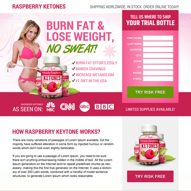 raspberry ketone weight loss best responsive landing page design Weight Loss example