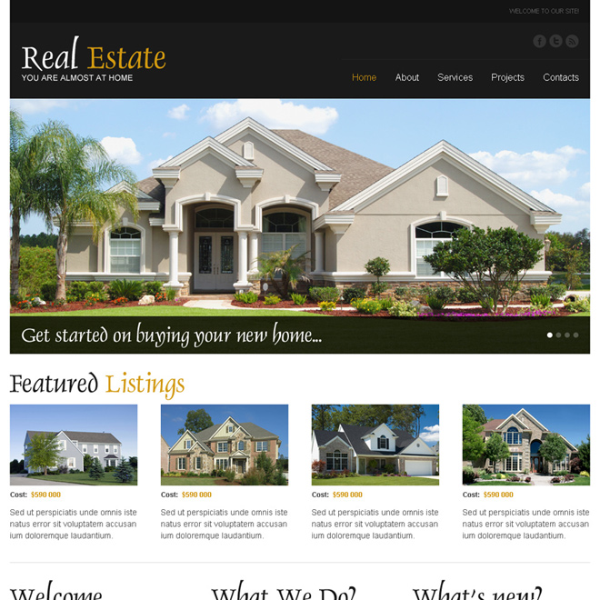 real estate converting html website template to boost your conversion rates Real Estate example