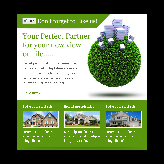 real estate listing converting html facebook fan page template design PPV Landing Page example