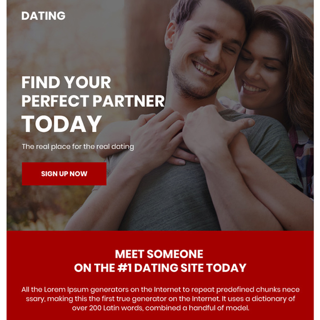 minimal dating sign up capturing ppv landing page design Dating example
