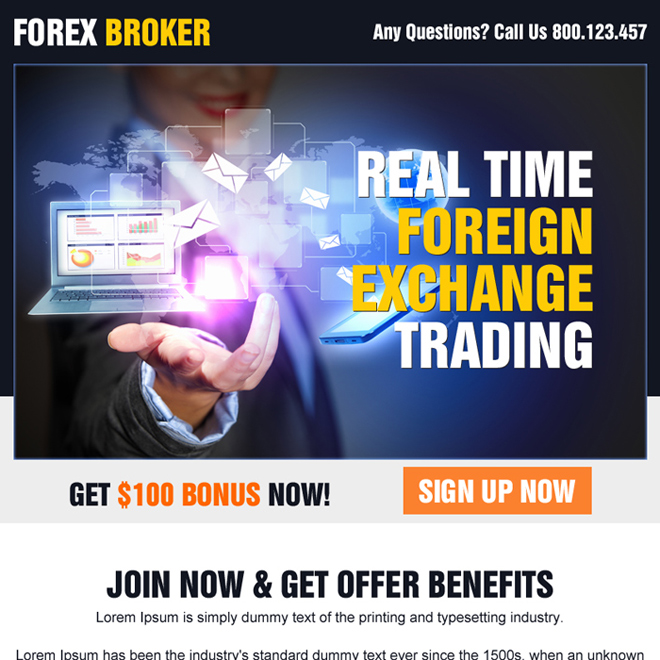 real time foreign exchange trading ppv landing page Forex Trading example