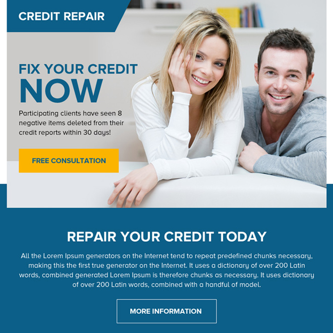 repair your credit today free consultation ppv landing page Credit Repair example