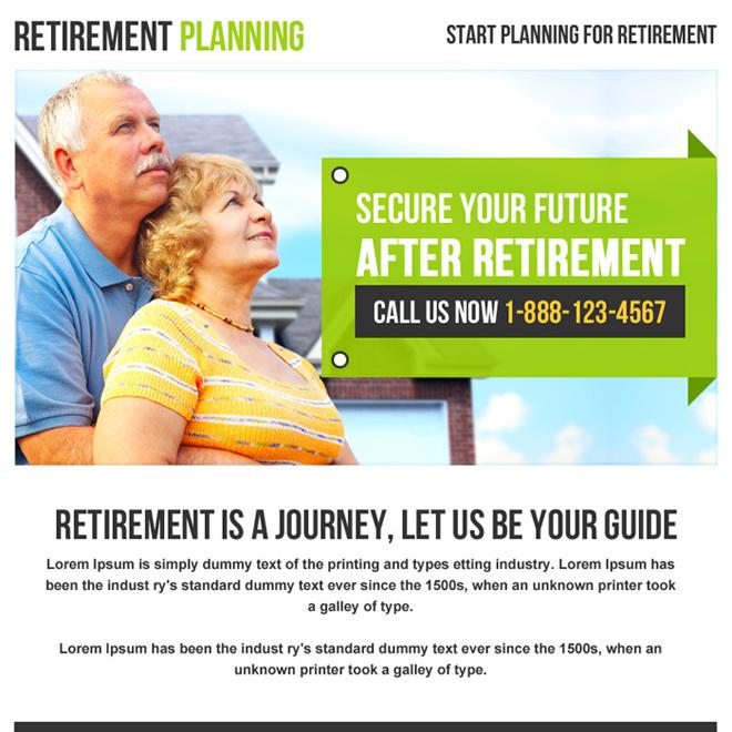 retirement planning phone call capturing ppv design Retirement Planning example
