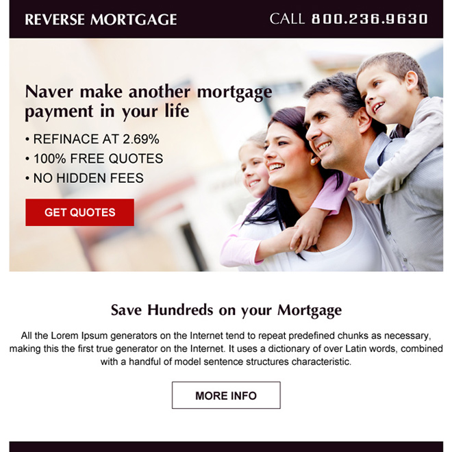 reverse mortgage ppv landing page design Mortgage example