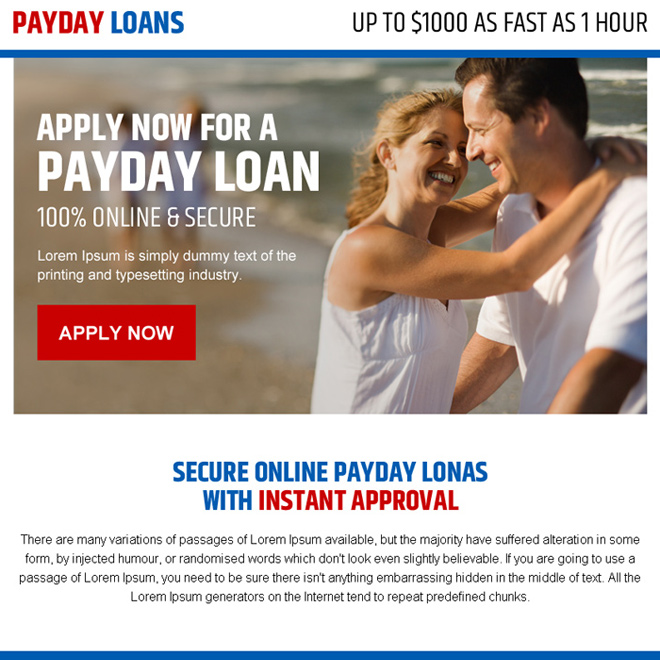 secure online payday loan call to action ppv landing page Payday Loan example