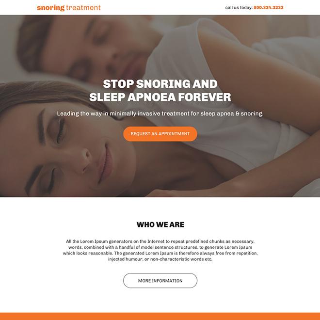 minimal anti snoring bootstrap landing page Anti Snoring example