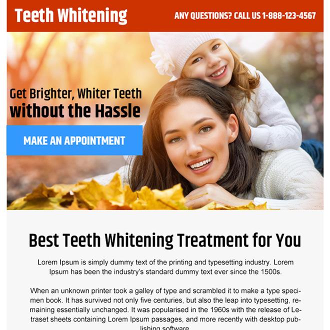 teeth whitening treatment PPV design Teeth Whitening example