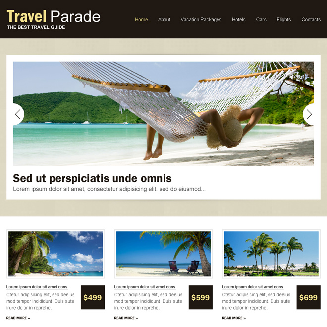 clean and effective travel html website template Travel example