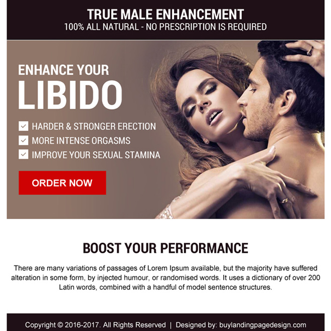 natural male enhancement ppv landing page design Male Enhancement example