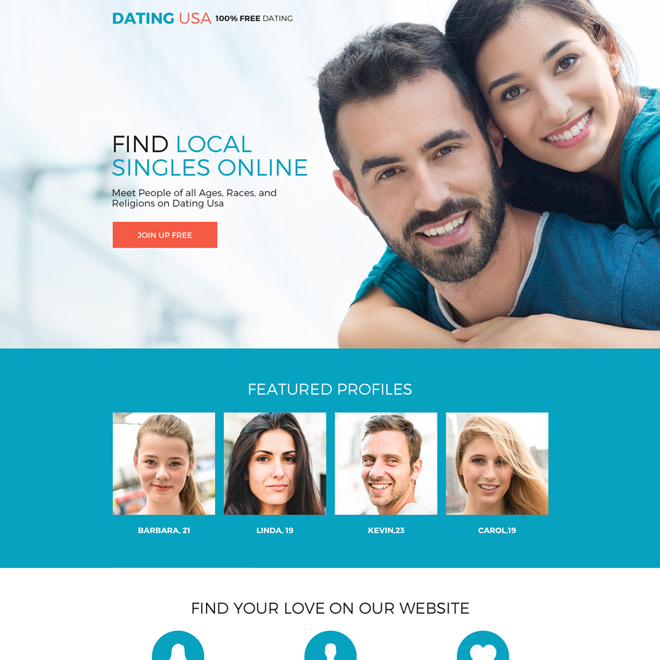 Website design for online dating