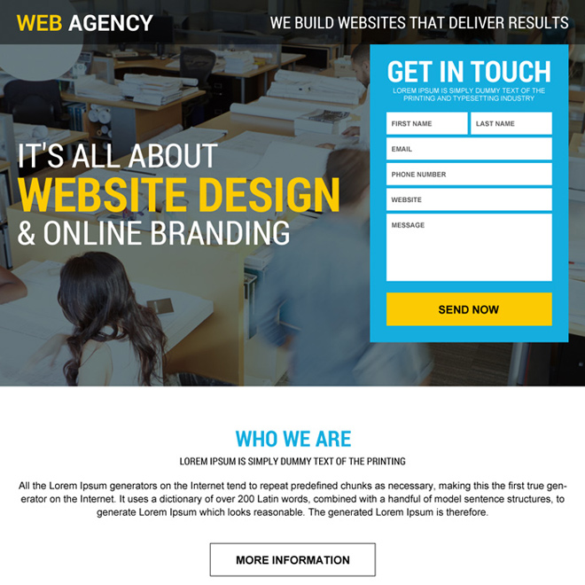 web design agency landing page design Web Design and Development example