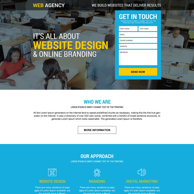 mobile friendly web design agency lead gen landing page Web Design and Development example