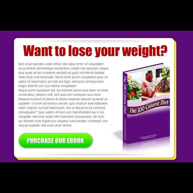 lose your weight ebook effective html ppv landing page design E Book example