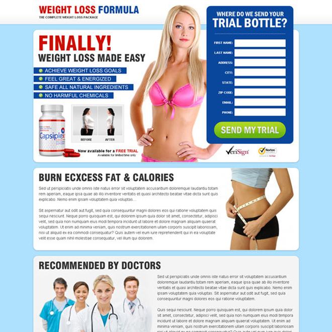 weight loss formula top converting product landing page to maximize your revenue Weight Loss example