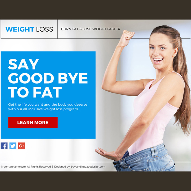 weight loss lead funnel responsive landing page design Weight Loss example