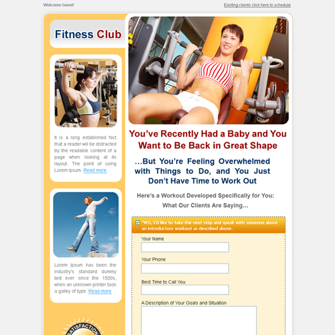 weight loss lead capture landing page Weight Loss example