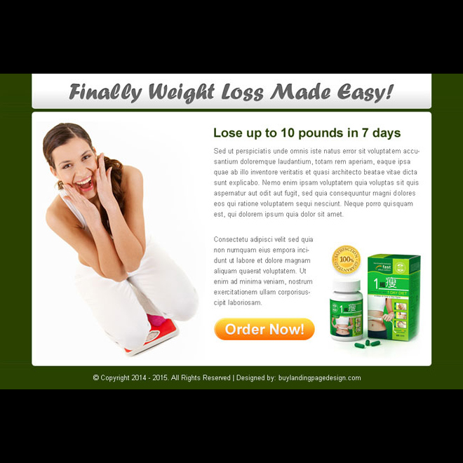 finally weight loss made easy clean ppv landing page design Weight Loss example