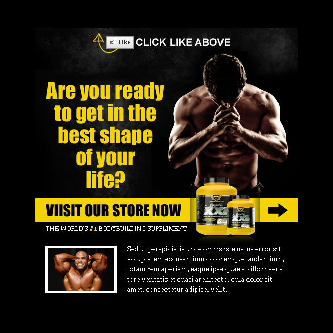 weight loss product appealing and converting html fan page PPV Landing Page example