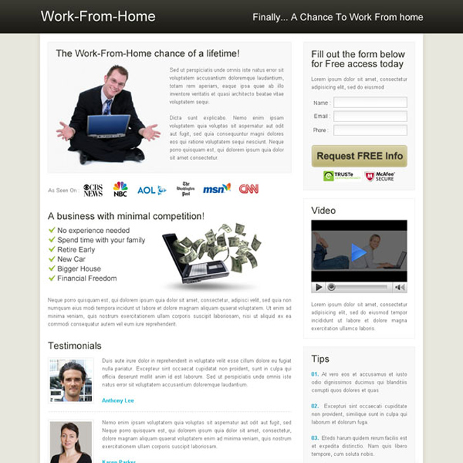 work from home clean flog design Flogs example