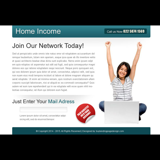 work from home instant lead capture ppv landing page design template PPV Landing Page example