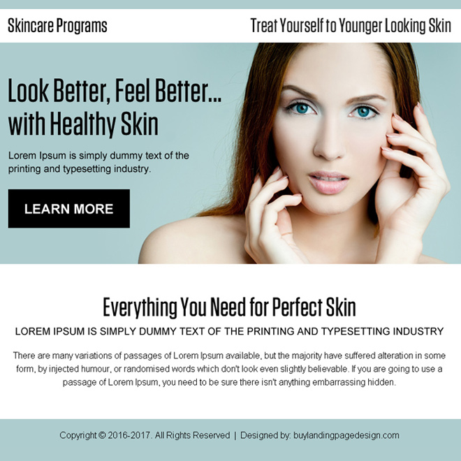 younger looking skin care program best ppv landing page Skin Care example