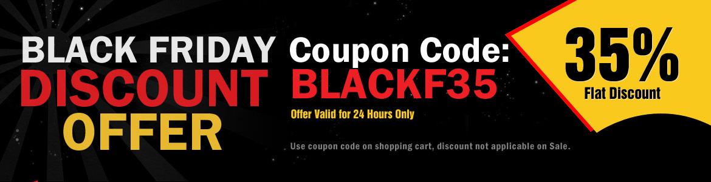 35% Falt discount on landing page design on black friday discount offer