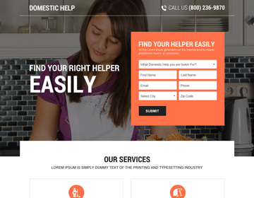 debt relief solution landing pages