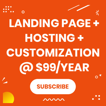 custom landing page design package