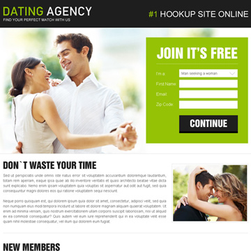 free dating landing pages