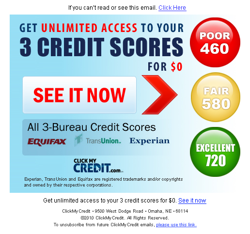 3 bureau credit scores