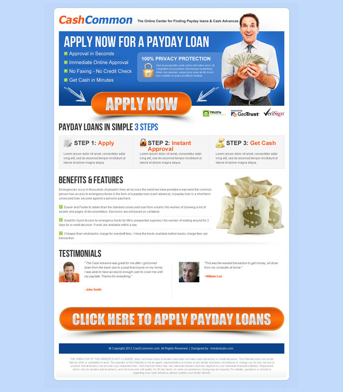 payday cash loan application