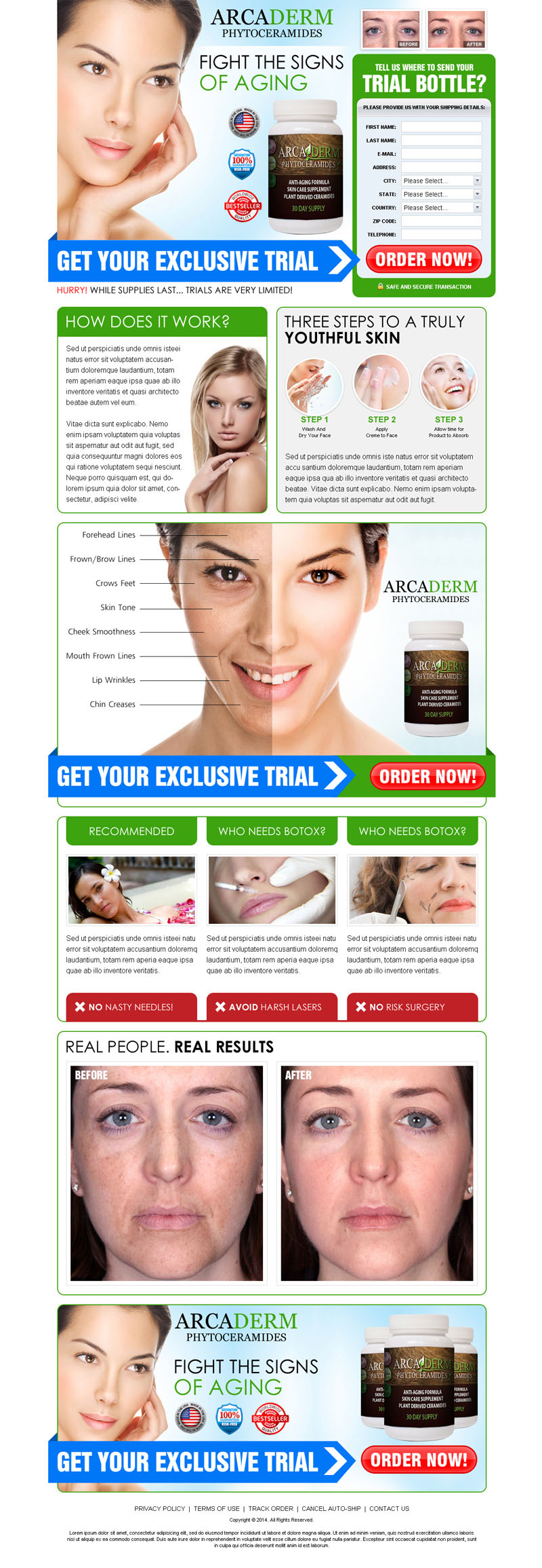 skin care supplement trial