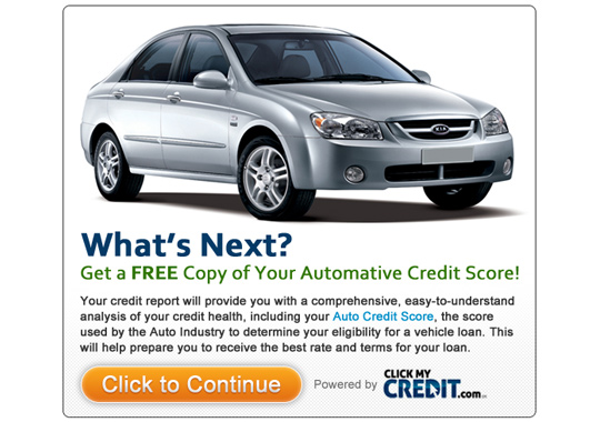 automotive credit score  example