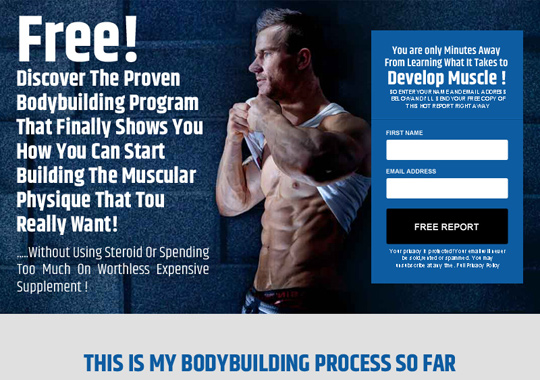 bodybuilding program  example
