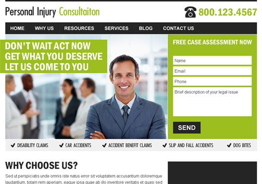 personal injury consultation  example