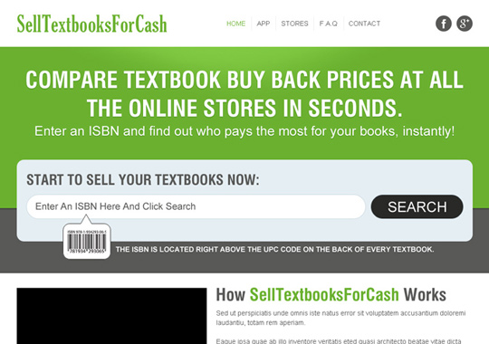 sell your textbooks online  example