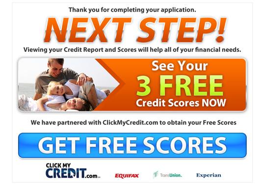 free credit score  example