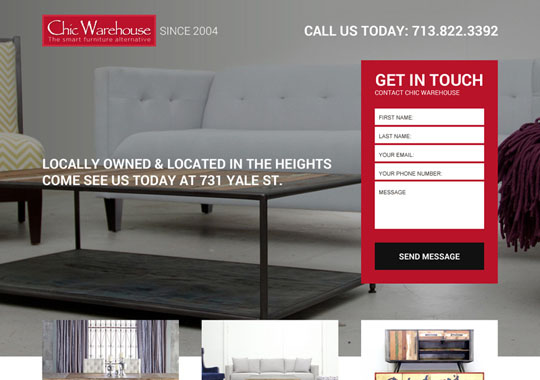 furniture warehouse  example