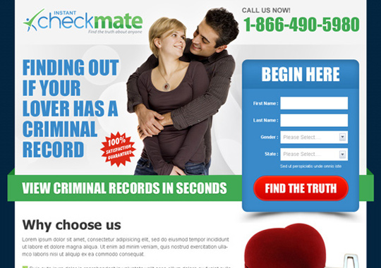 online dating lead capture  example