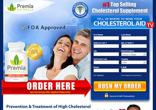 cholesterol supplement product  example