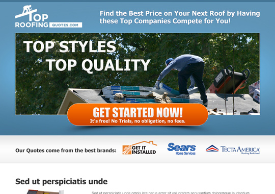 top roofing company free quote  example