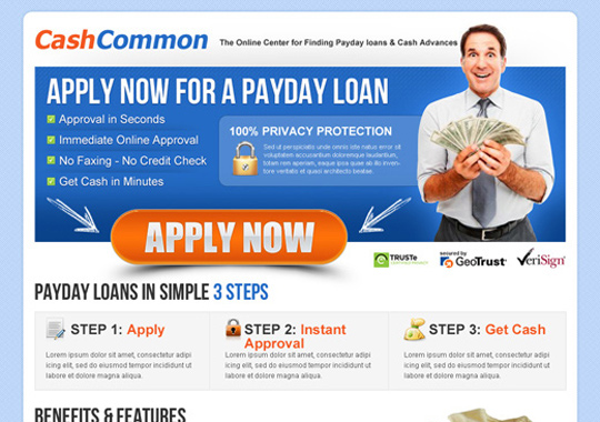 payday cash loan application  example