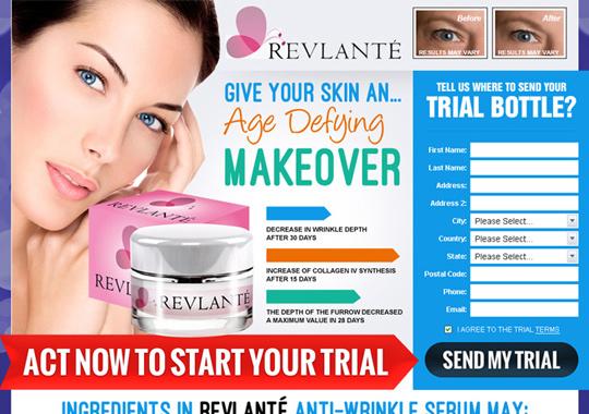 anti-wrinkle serum trial offer  example