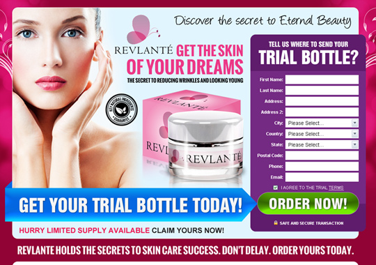 skin care cream trial bottle  example