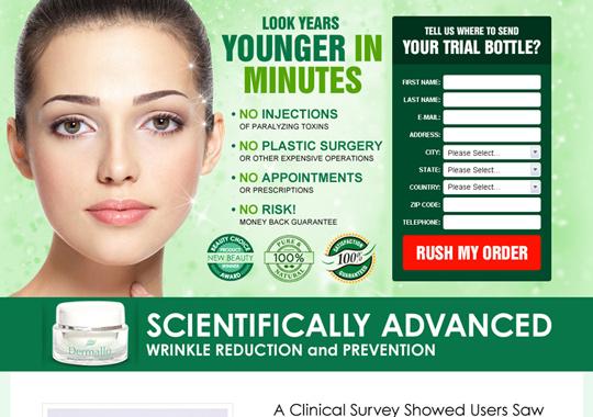 wrinkle reduction cream  example
