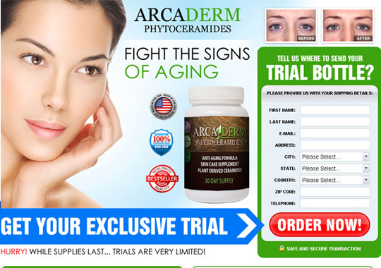 skin care supplement trial  example